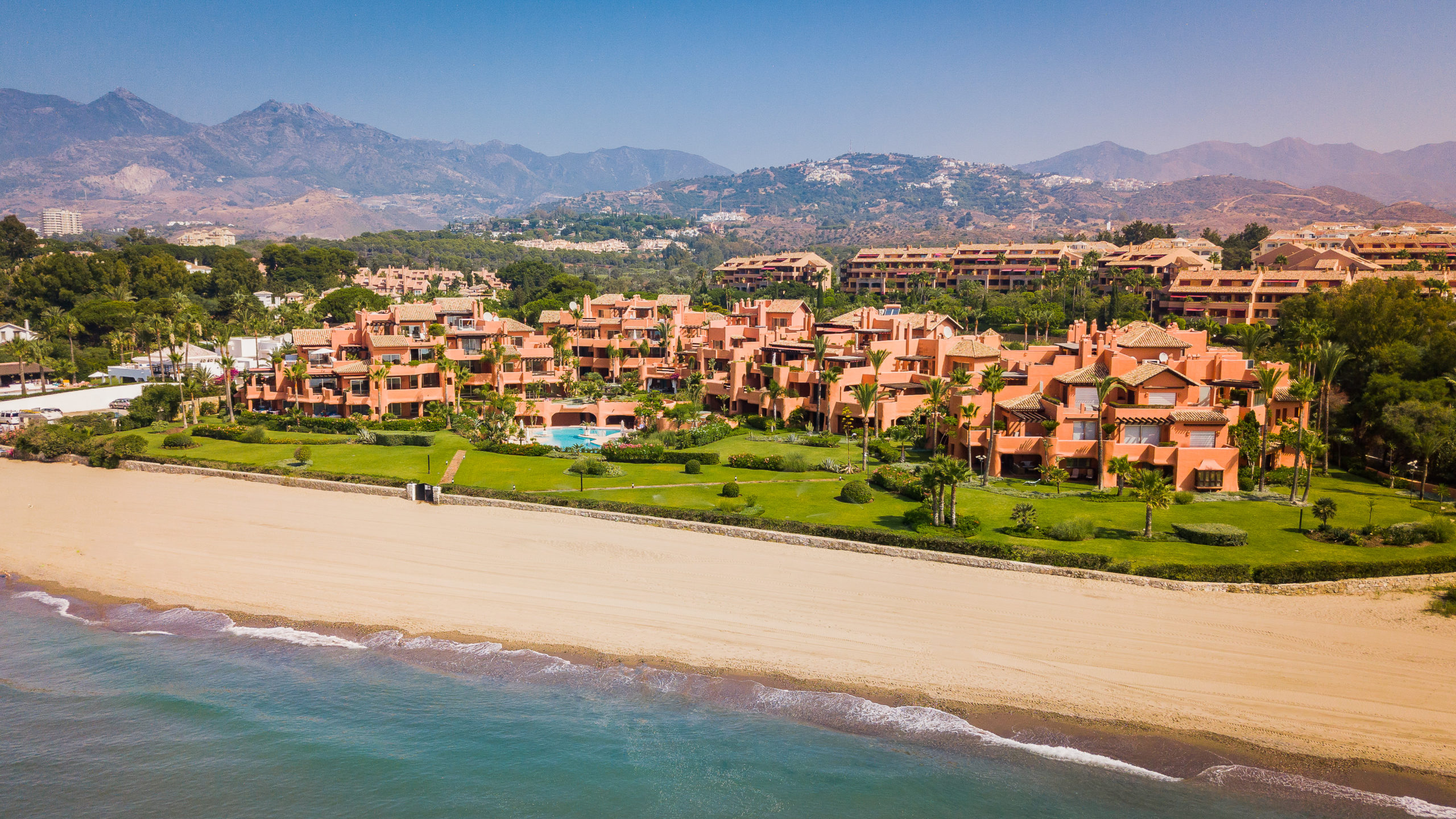 La Morera Playa beach in Marbella East
